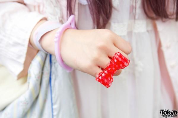 Bow Ring & Cat Bracelet