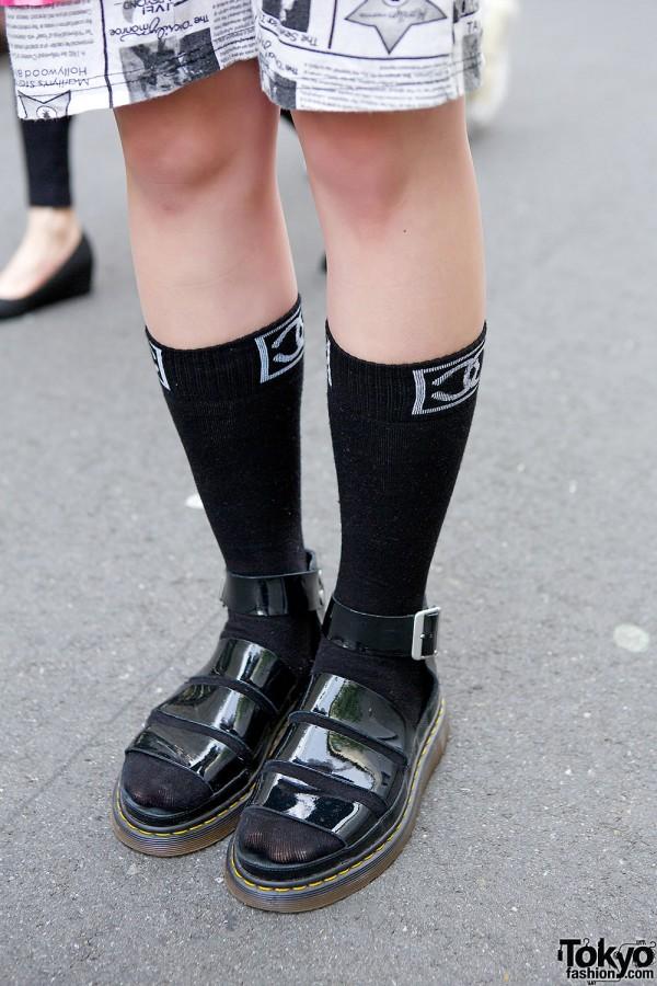 Sheer Dress Over Punk Cake Top Amp Dr Martens Sandals In