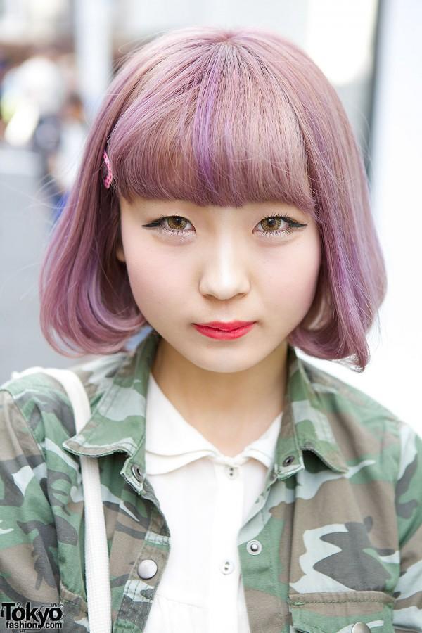 Lilac Bob Hair