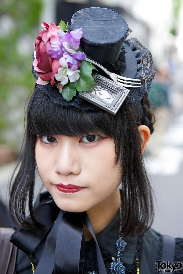 Fork & Flowers Mini Hat