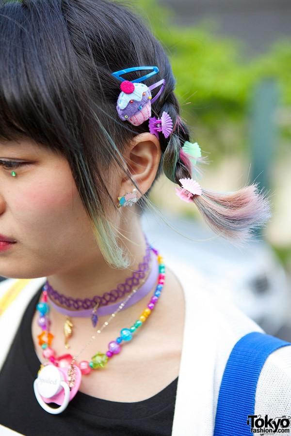 Braided Rainbow Hair with Pins