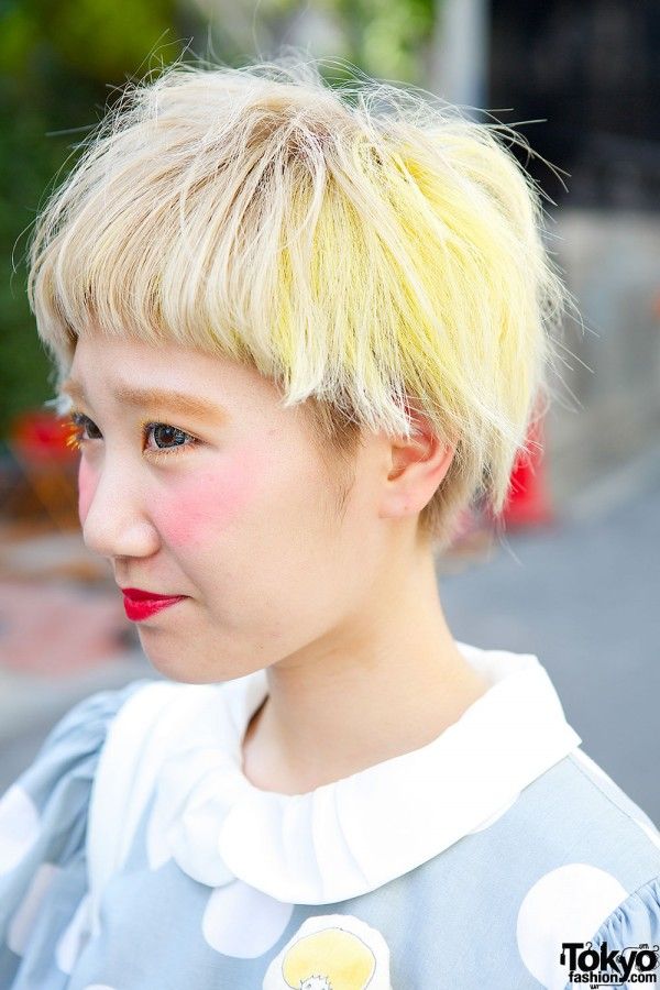 Short Blond Japanese Hair