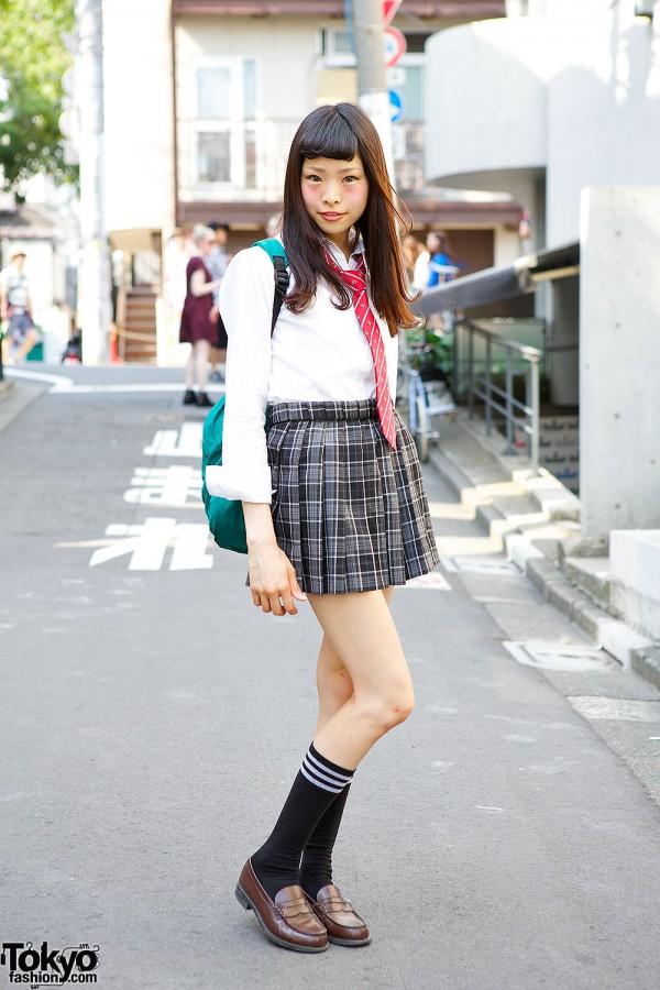 Japanese School Uniform in Harajuku