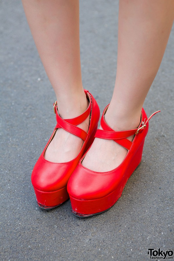 WEGO Red Platform Shoes