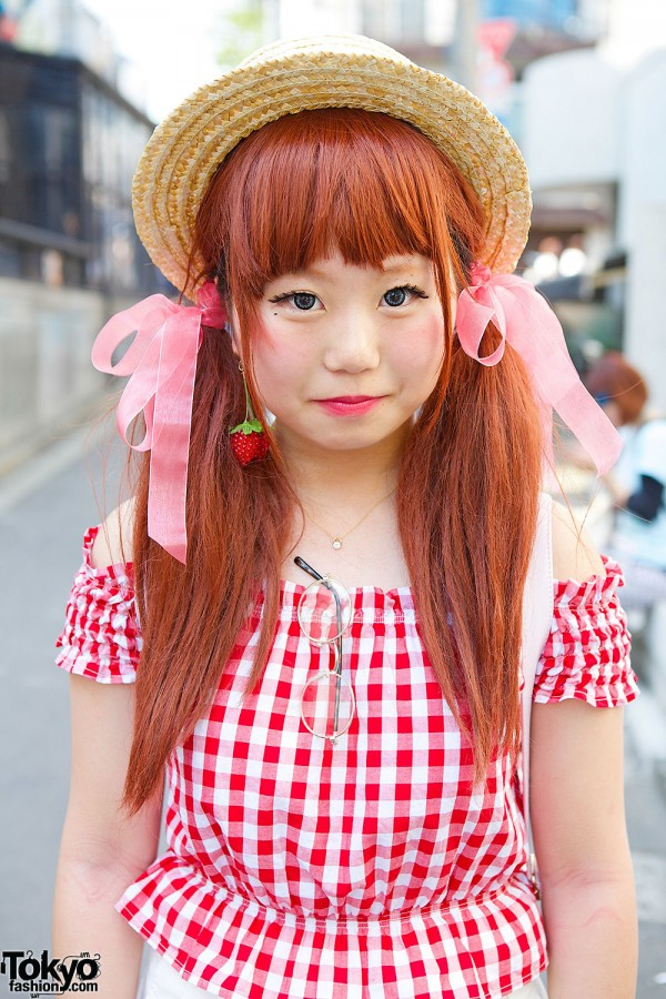 Twin Tails w/ Bows & Boater Hat
