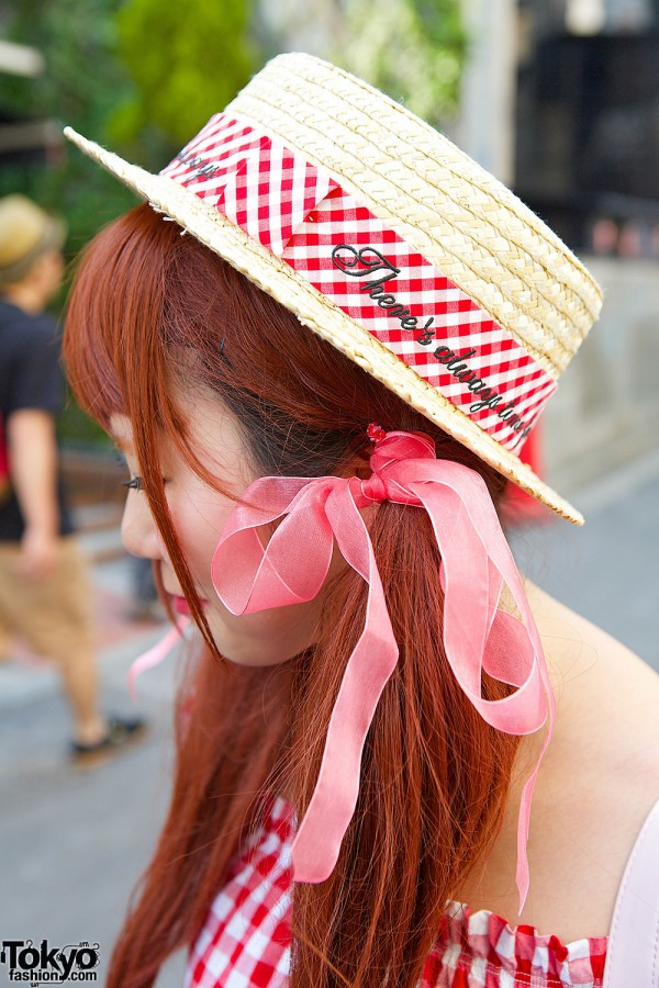 Boater Hat & Hair Bows