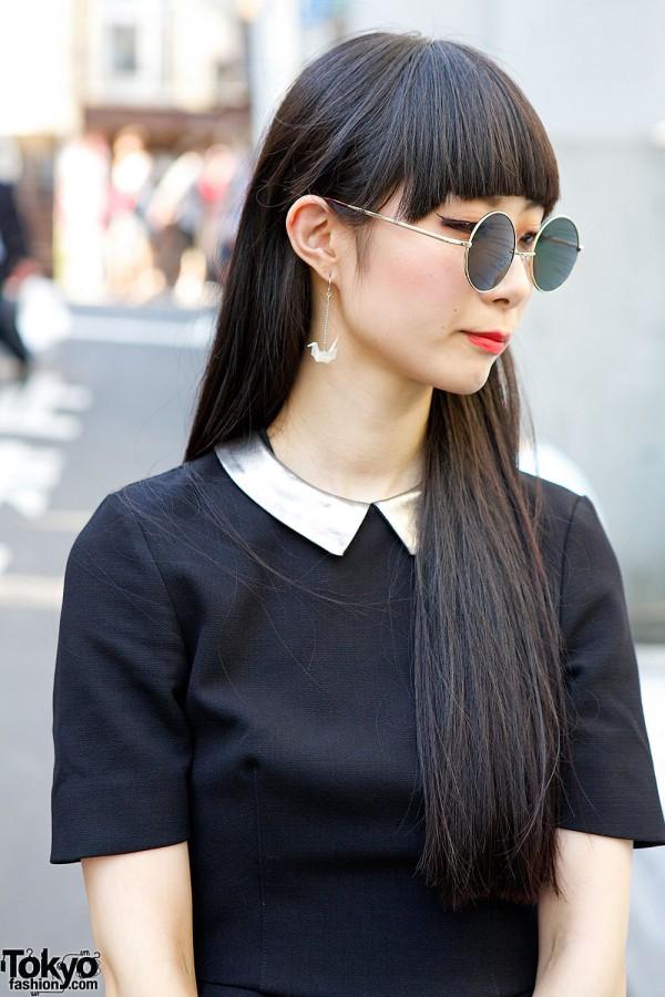 H&M Dress & Metallic Collar