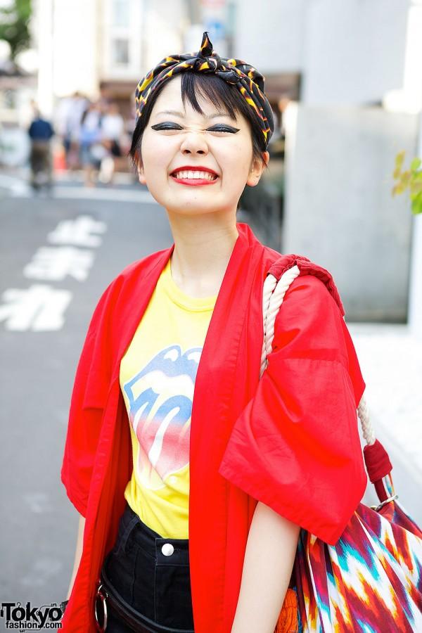 Rolling Stones T-Shirt in Harajuku