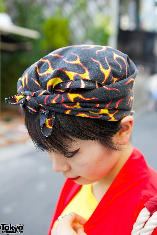 Flames Print Headscarf