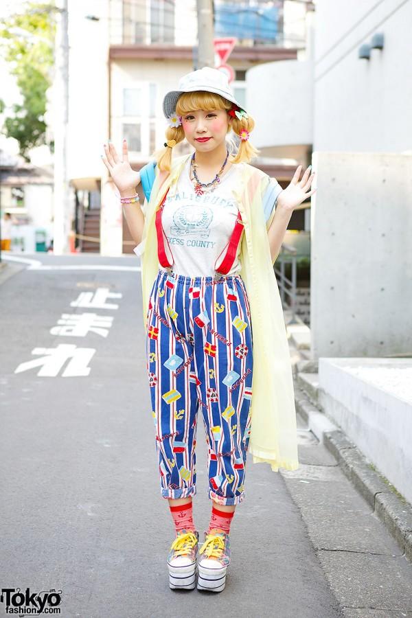 New York Joe Exchange Pants, Panama Boy Sheer Coat & Platform Sneakers in Harajuku