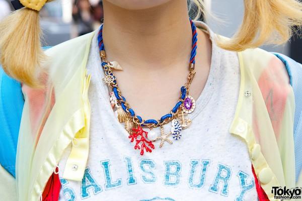 Seashells Charm Necklace