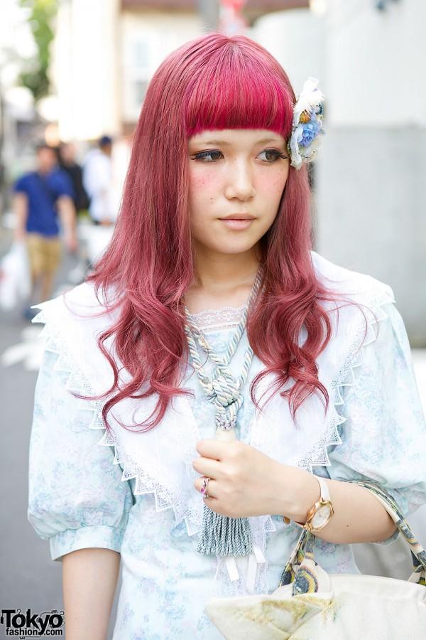 Purple Hair & Tassel Necklace