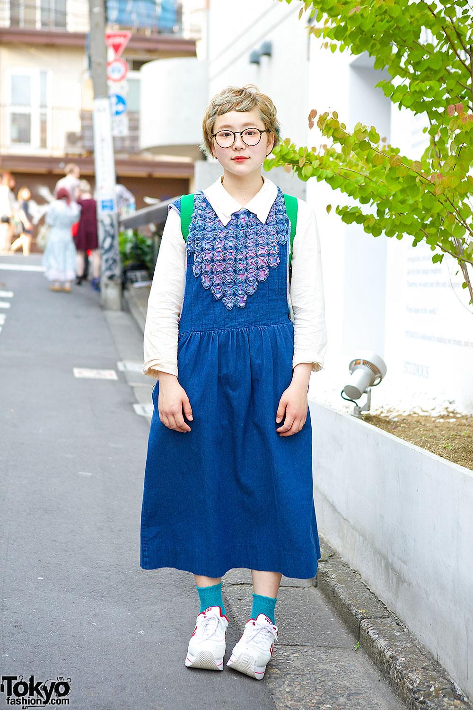 Short Hair Amp Acid Gallery Glasses W Denim Dress