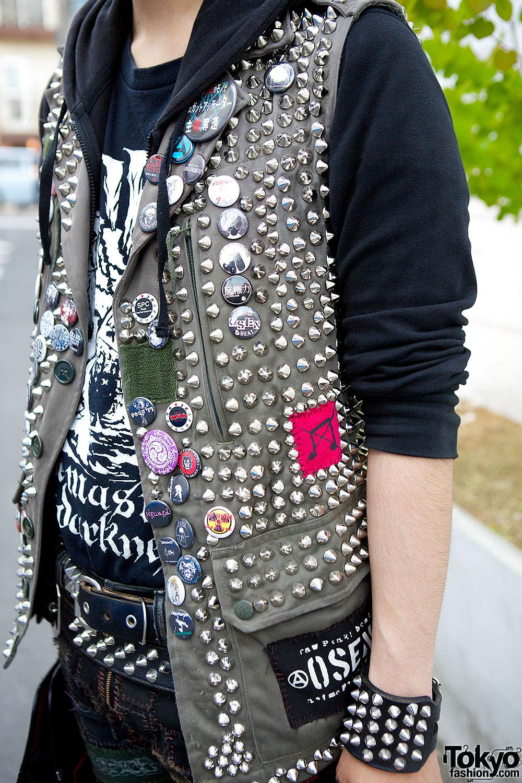 Crust Punk Patch Pants Disk Union Bag Amp Studded Vest In