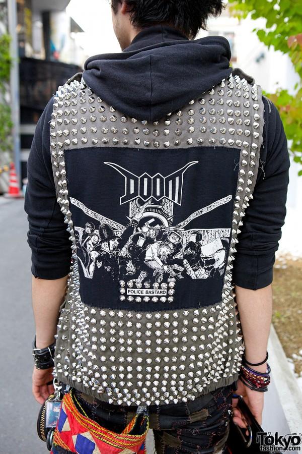 Punk Doom Patch Studded Vest
