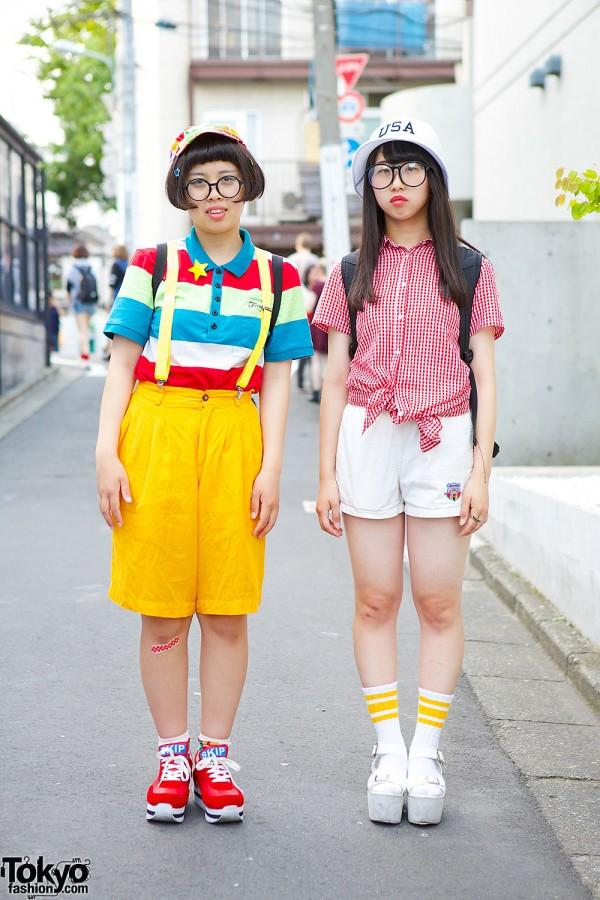 Harajuku Girls in Glasses & Shorts