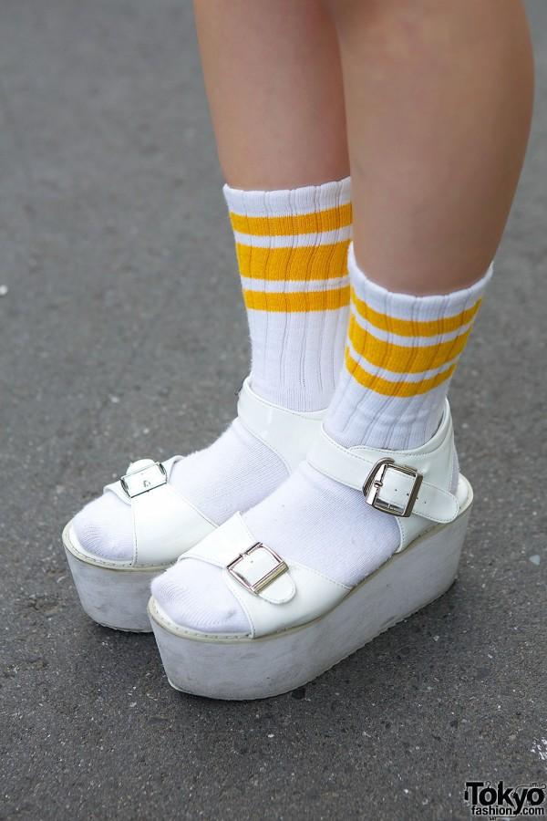 Socks & Platform Sandals