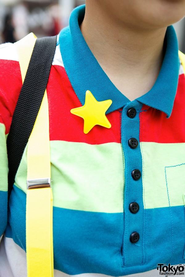 Star Pin & Stripes T-Shirt