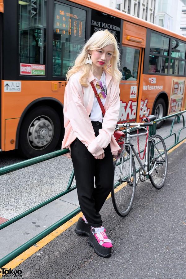"""Vargas x K3 Platform Sandals, """"HATE"""" Ring & Fleamadonna in Harajuku"""