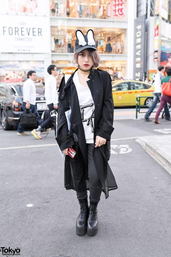 Bunka Fashion College Student in Black Sheer