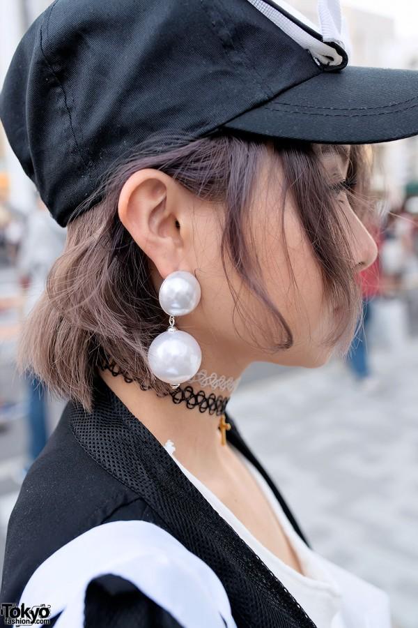 Large Pearl Earrings