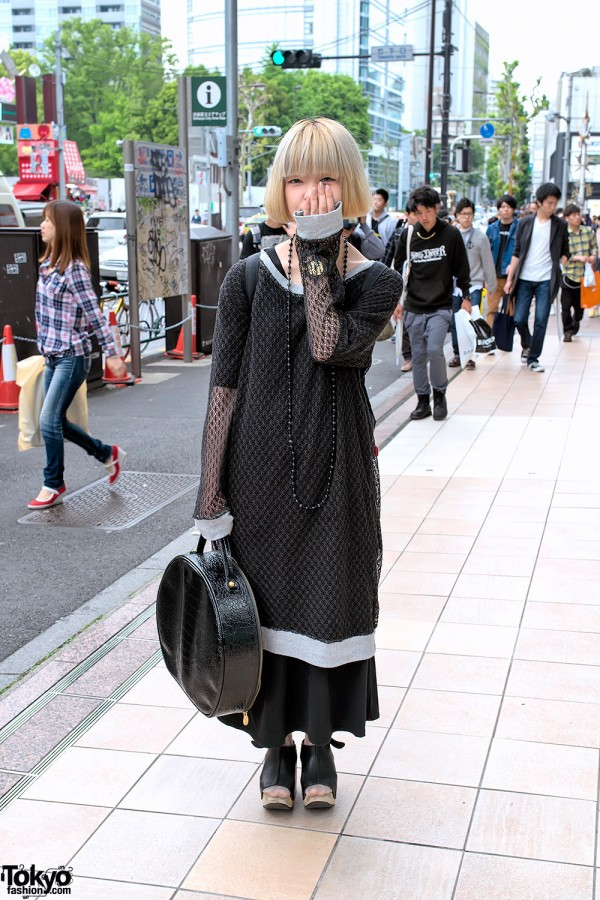 Oversized Net Top, Trippen Platform Shoes & Vivienne Westwood in Harajuku