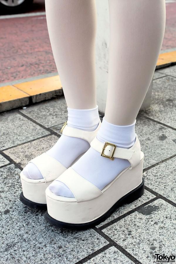 LDS Platform Sandals with Socks