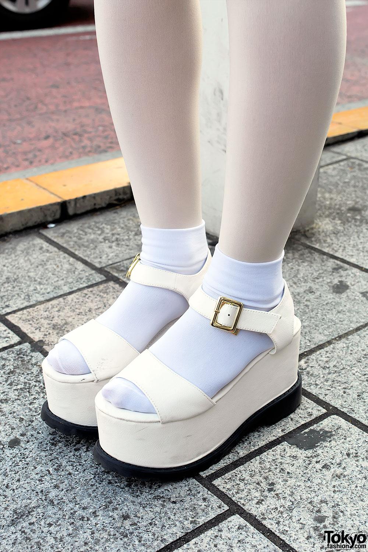 Pastel Hair Ysl Top Pleated Skirt Amp Lds Platform Sandals
