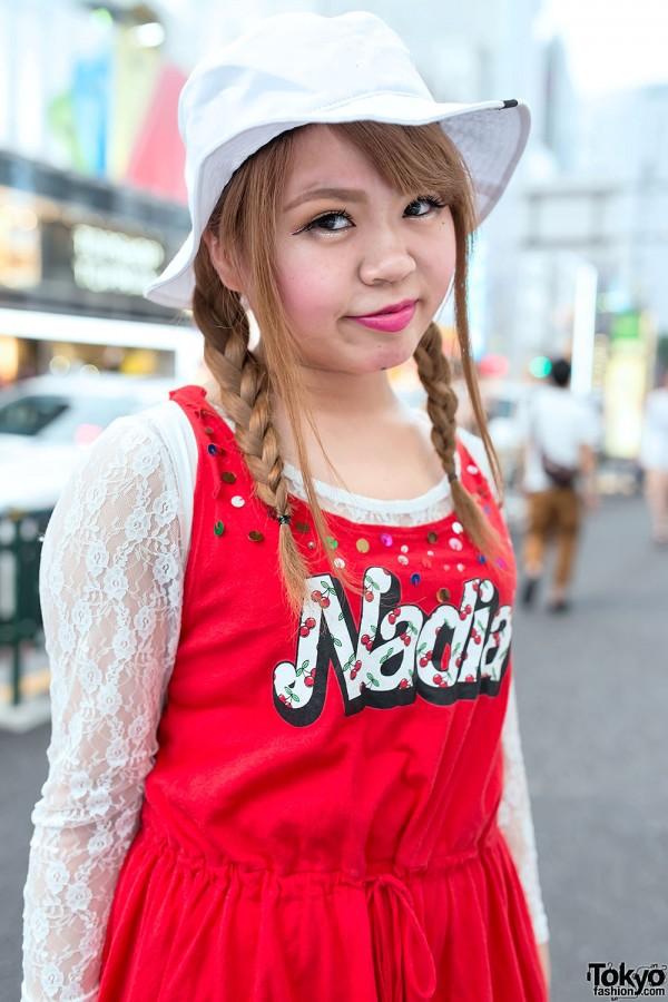 Nadia Harajuku Dress Over Lace Top