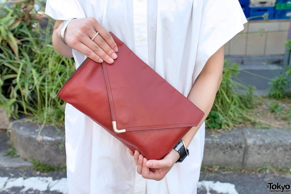 Red Resale Clutch in Harajuku