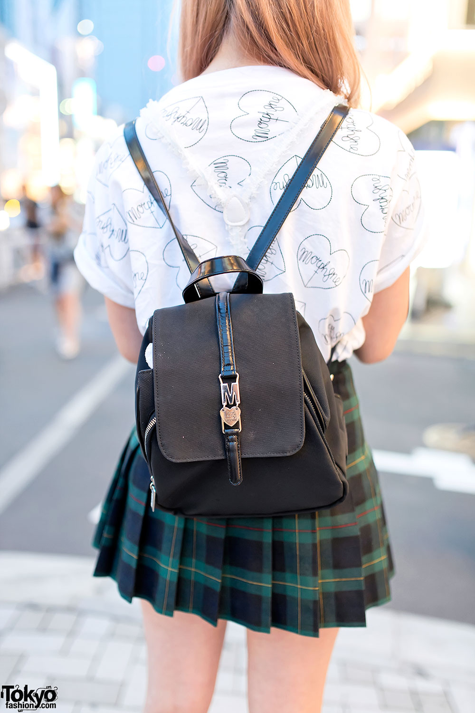 Plaid Pleated Skirt Morph8ne Top Moschino Bag Amp Yru