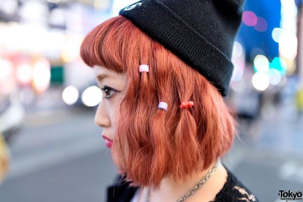 Pretty Orange Hair & Colorful Hair Clips