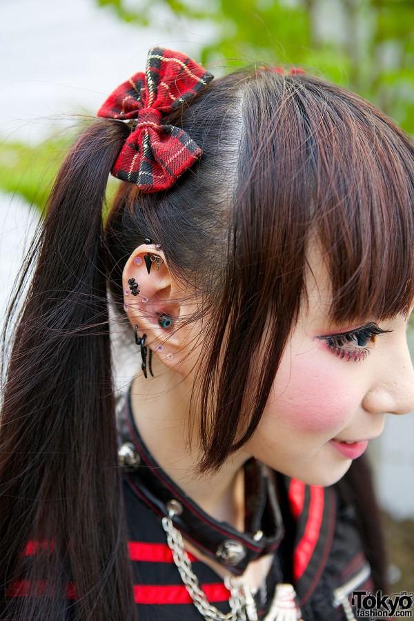 Plaid Gothic Hair Bows
