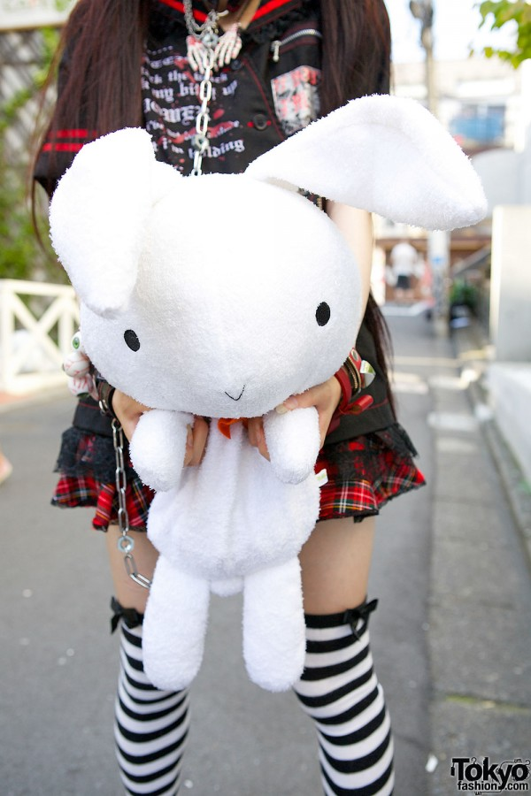 Oversized Plush Bunny Bag