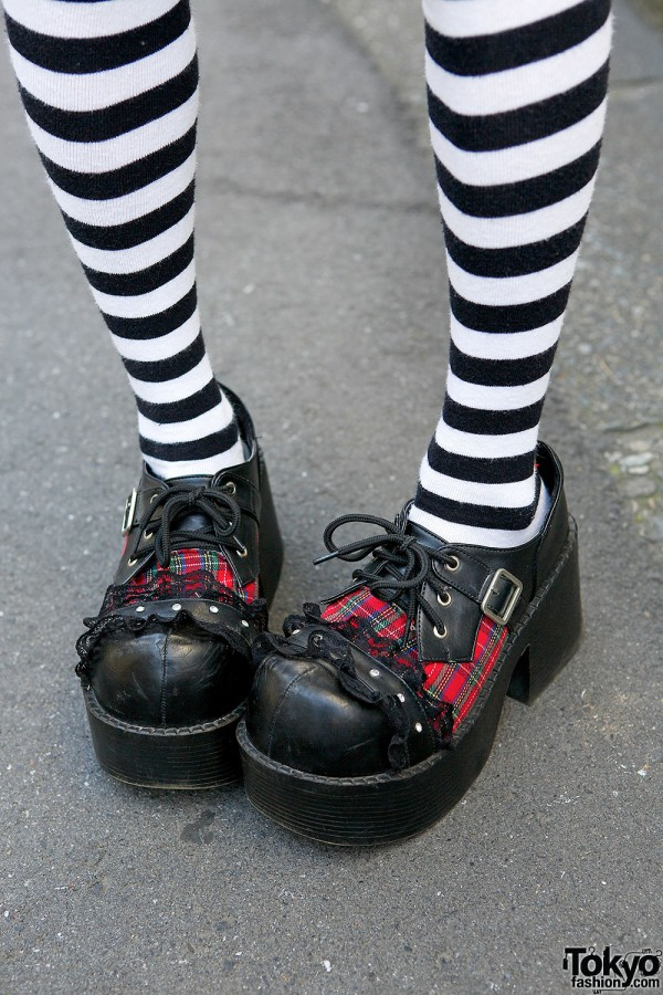 Striped Socks & Question Mark Shoes