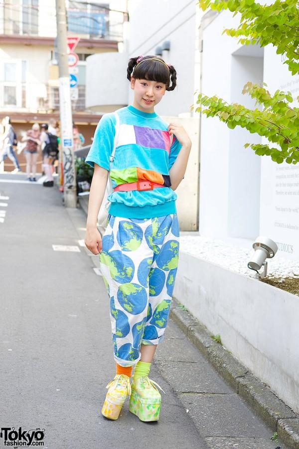 Harajuku Girl in Kinji Top & Pajama Pants