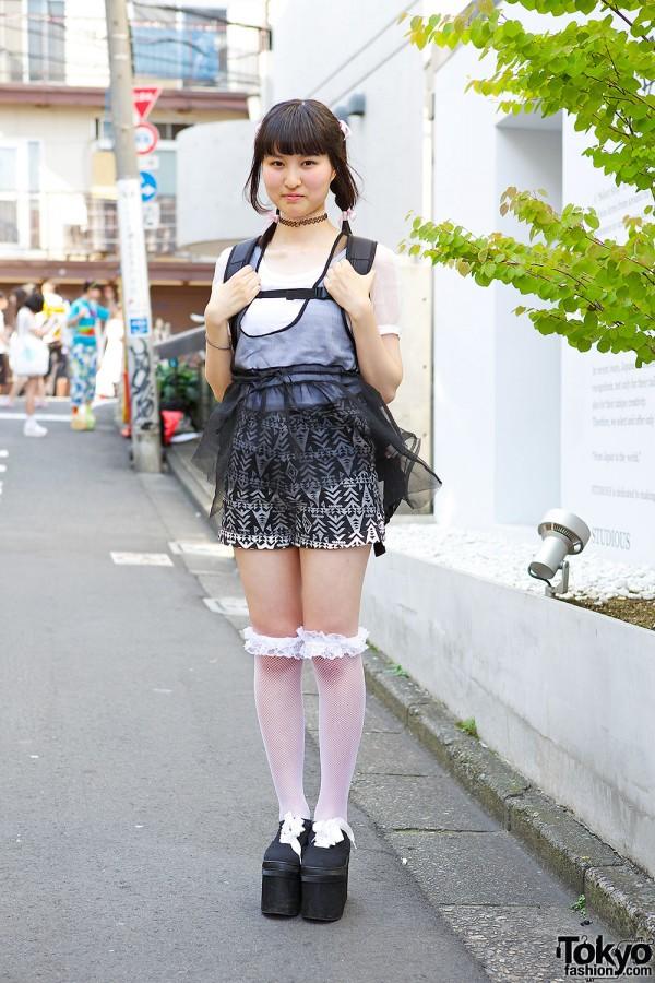 Black White Summer Layering W Nadia Wego Spinns Harajuku