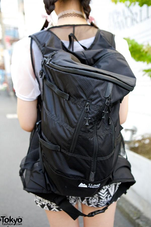 Black Rucksack in Harajuku