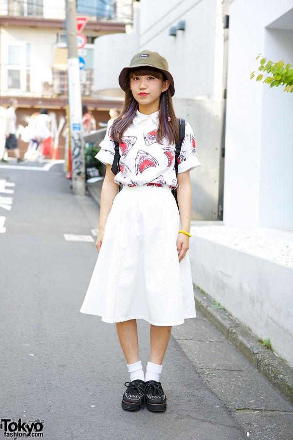 Harajuku Girl in WEGO Skirt