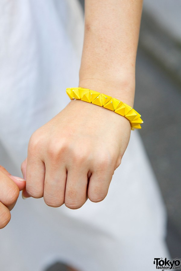 Yellow Studded Bracelet