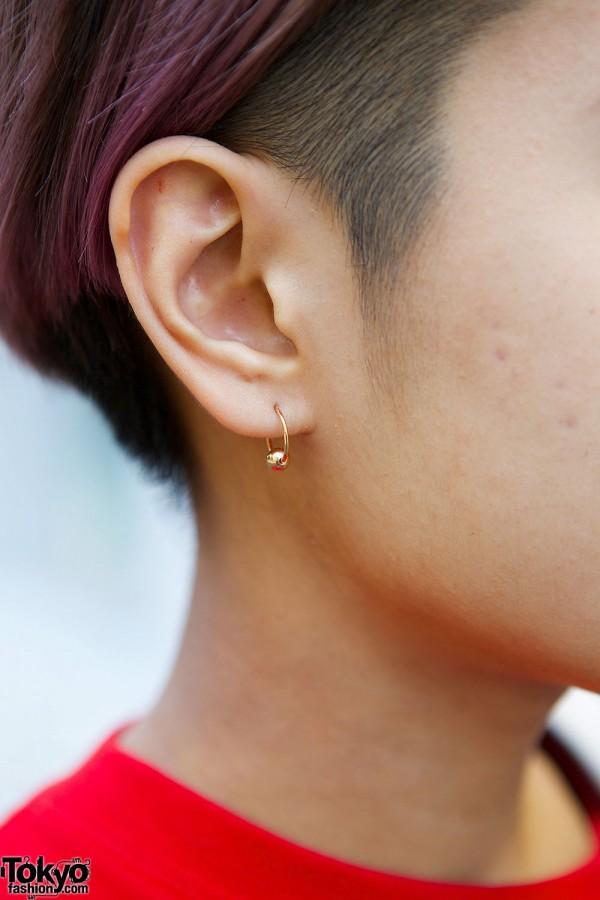 Minimalist Golden Earring