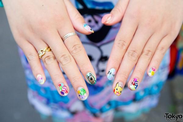 Scooby Doo Pikachu Nail Art Tokyo Fashion News