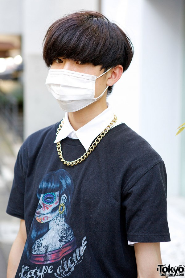 Face Mask & Chain Necklace