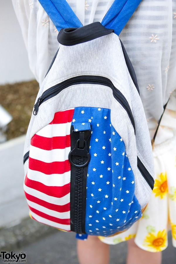 American Flab Big Zipper Backpack