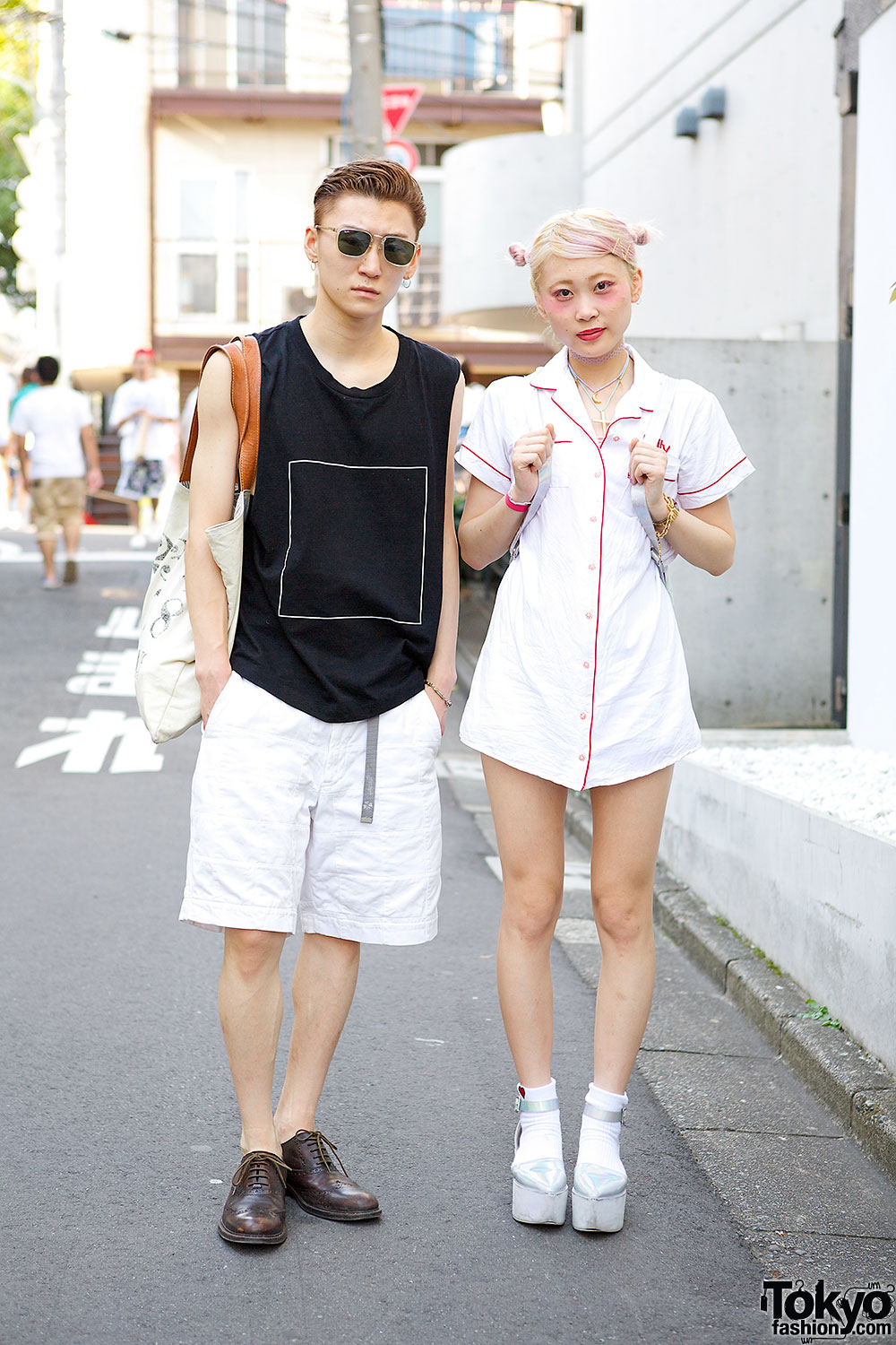 Pink Haired Harajuku Girl in LilLilly & Givenchy vs. Guy in i Tokyo Me & Ralph Lauren
