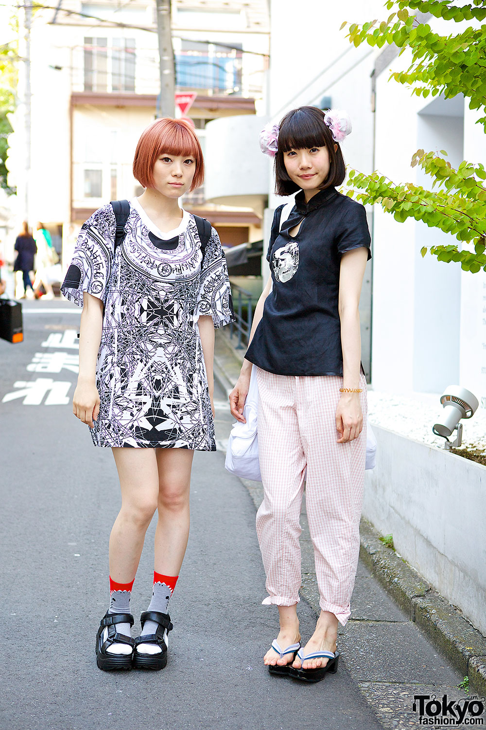 Harajuku Girls with Bob Hairstyles