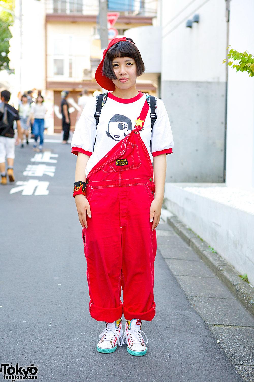 Harajuku Girl in Overalls