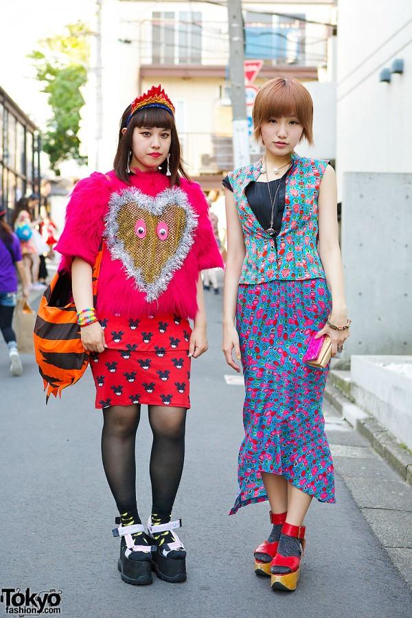 Harajuku Girls in Jeremy Scott & Vivienne Westwood