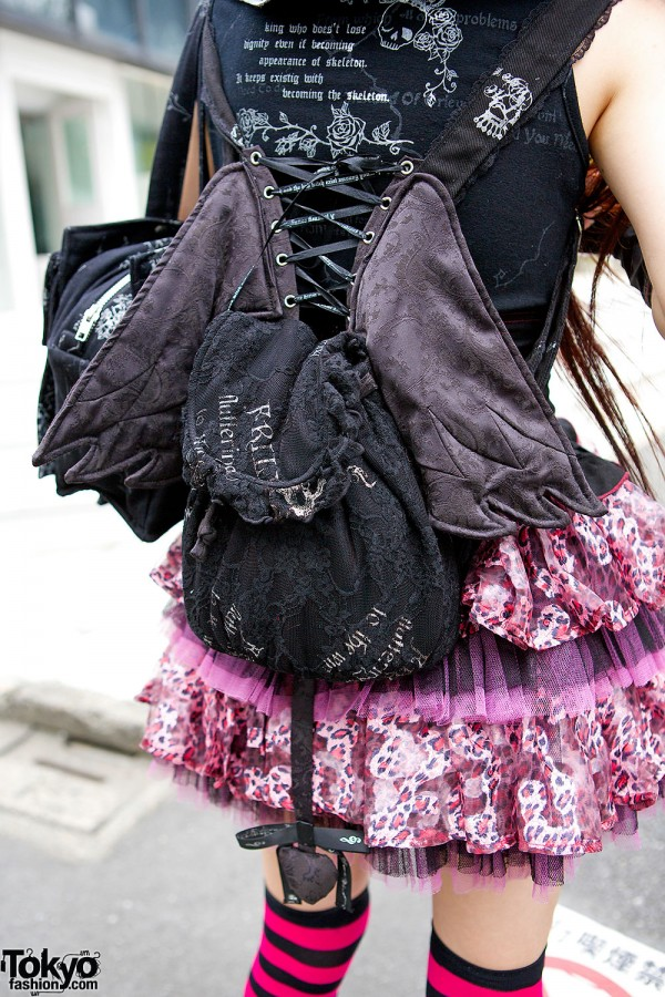 Lace Backpack with Wings