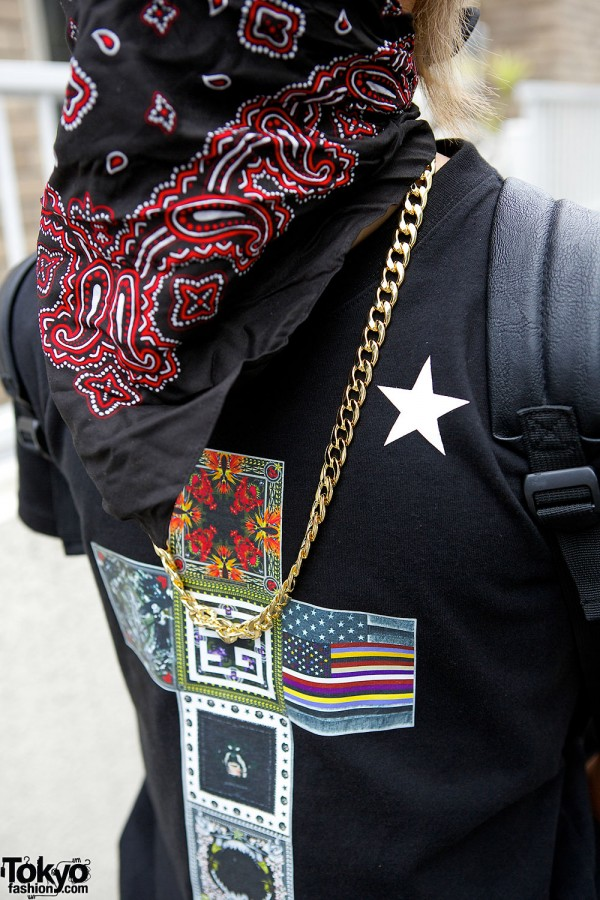 Givenchy T-Shirt & Chain Necklace